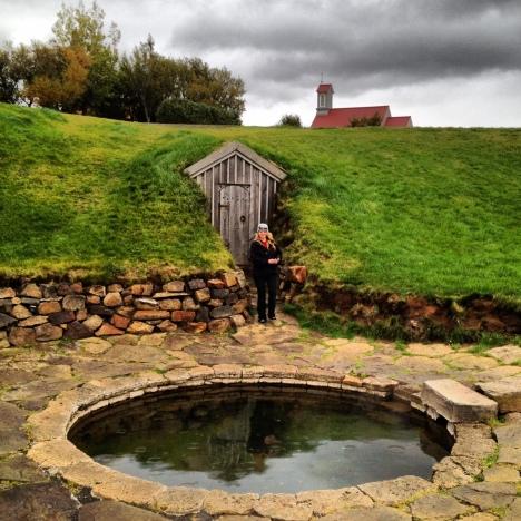 Snorralaug hot spring Iceland