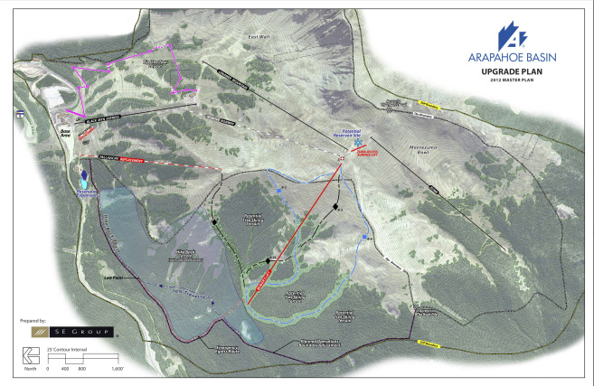 A map of A-Basin's proposed upgrades presented last year.