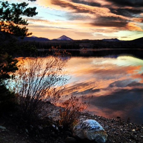 Dillon Reservoir sunrise Frisco Colorado