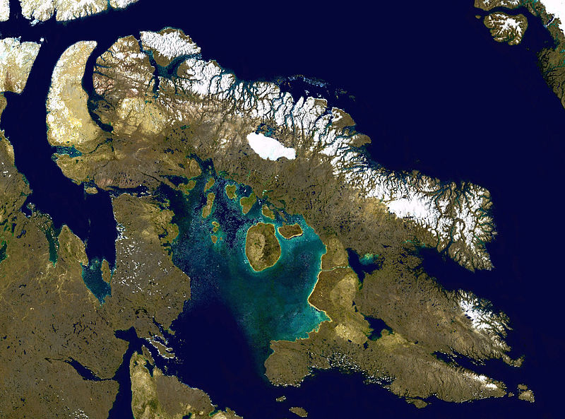 Baffin Island's ice caps are melting fast. Photo courtesy NASA.