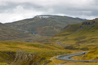 Highway to the West Fjords region of Iceland