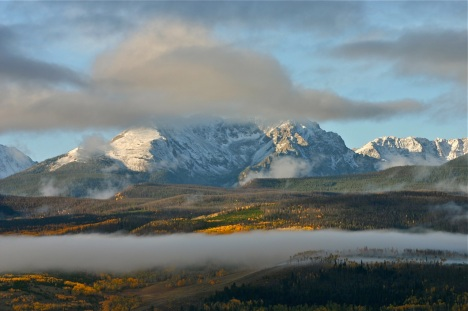 September often brings the first dusting of snow while the aspens are still turning gold.
