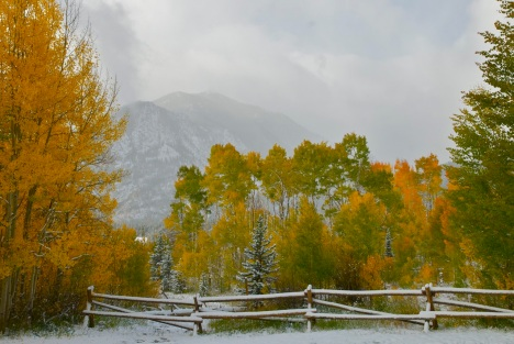 September snow in Frisco, Colorado.