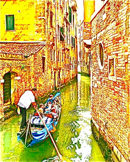 A watery alley in Venice.