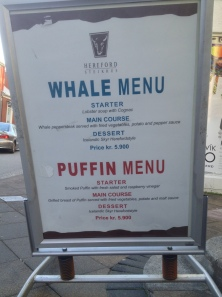 Whale is on the menu in some Iceland restaurants. bberwyn photo.