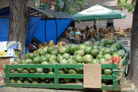 Got watermelons? Kim Fenske finds a stash during his exploration of Odessa.