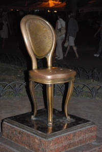 The Twelve Chairs Monument in Odessa.