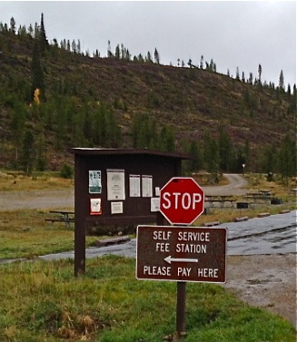 Fee stations like this one at Pine Cove campground near Frisco, Colorado, could become even more common after a federal court exempted private companies from rules governing the application of recreation fees.