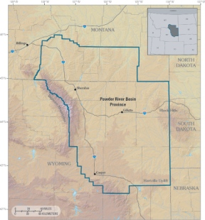 Wyoming's Powder River Basin. Map courtesy USGS.