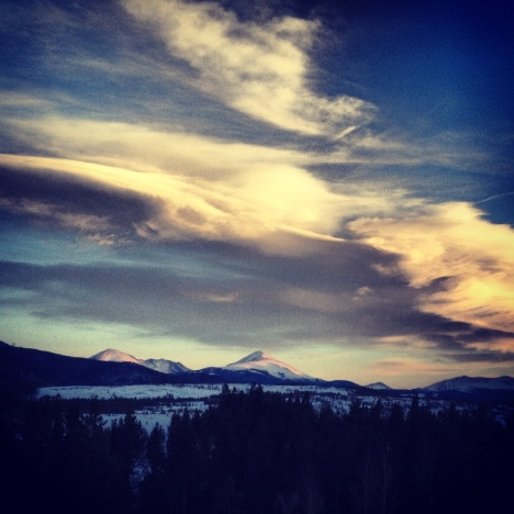Skyscape over Dillon Reservoir.