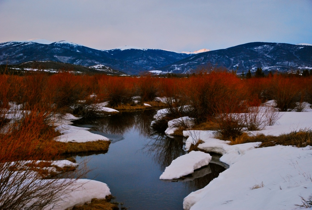 Melt-out, Meadow Creek wetlands, Frisco, Colorado.