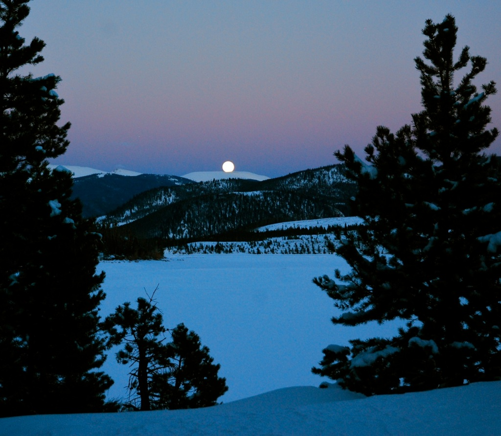 Full moon rise, April 14, Frisco, Colorado.