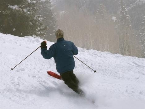 Tele turns at Aspen Highlands.