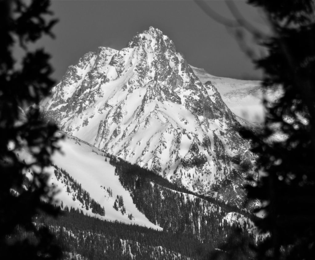 Framed in black and white — Gore Range, Colorado.