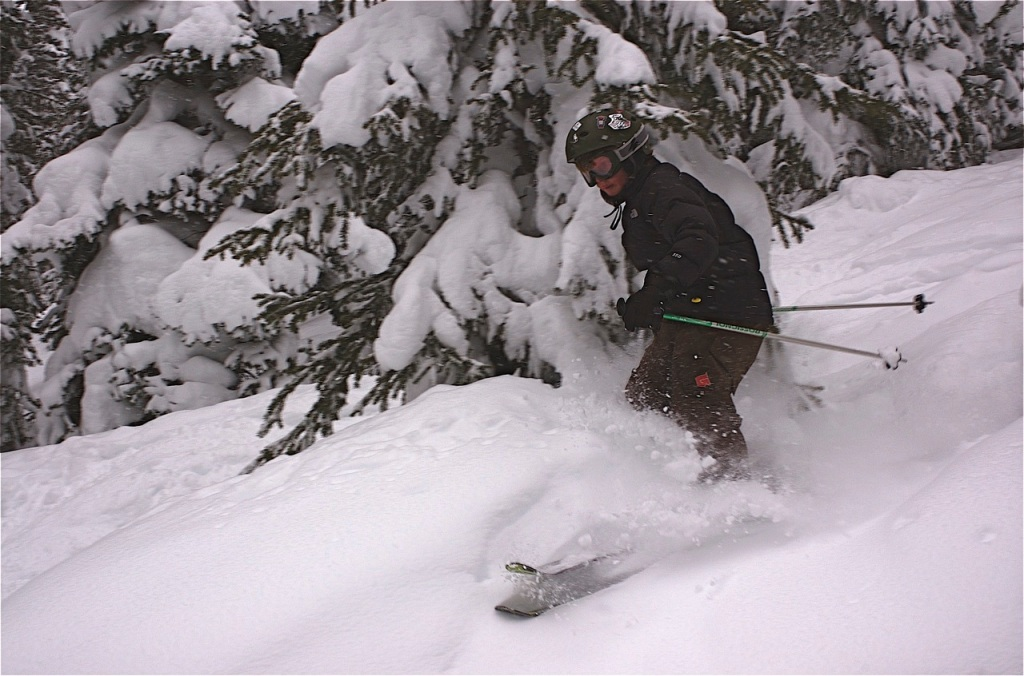 Powder in Vail's Blue Sky Basin.