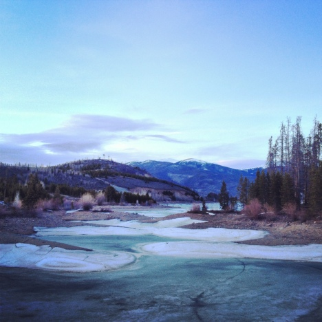 Inlet ice, Dillon Reservoir.