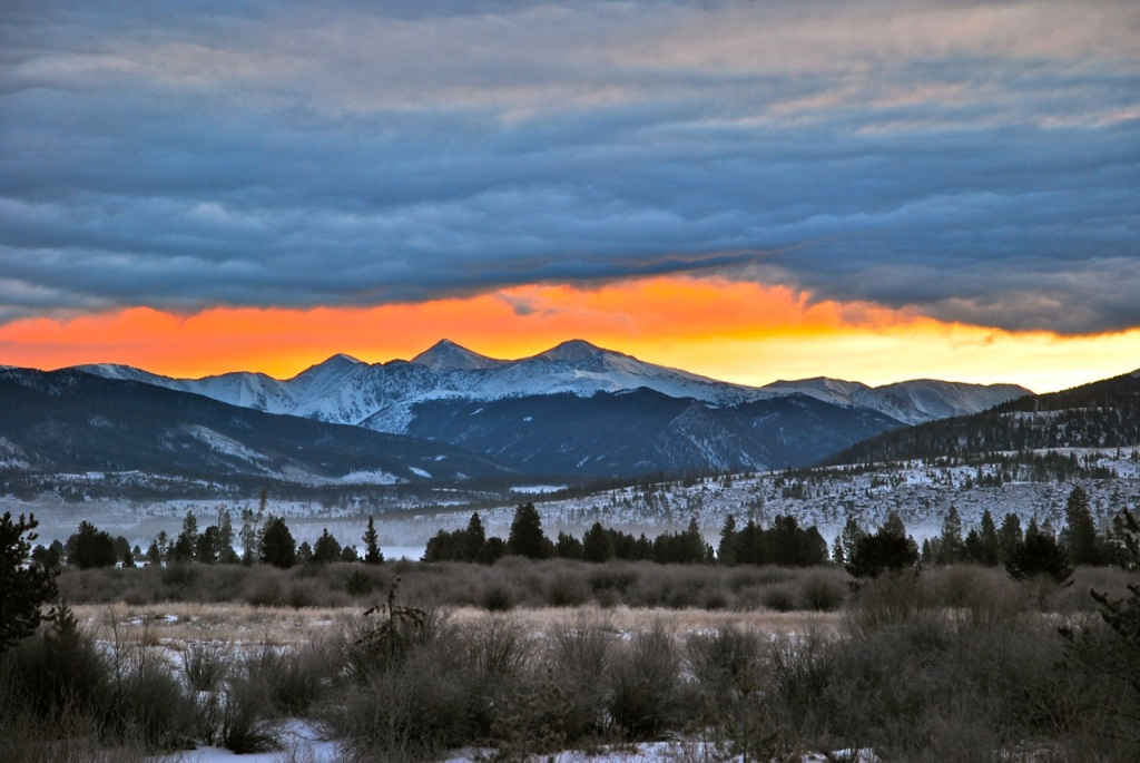 One of the most unusual sunrise scenes I've seen in the mountains of Colorado.