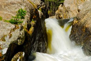 Meadow Creek, near Frisco, Colorado, raging with spring runoff.