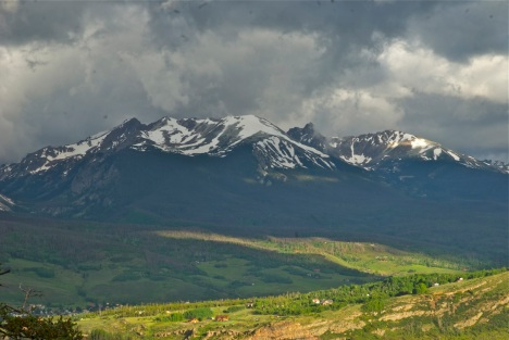 Glad I was up early for this Gore Range shot, with an unusual morning thunderstorm brewing over Buffalo Mountain.