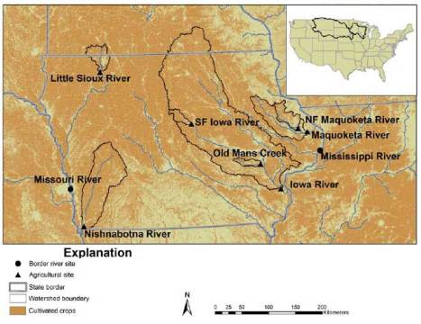 USGS study tracks widespread traces of pesticides in Midwest streams.