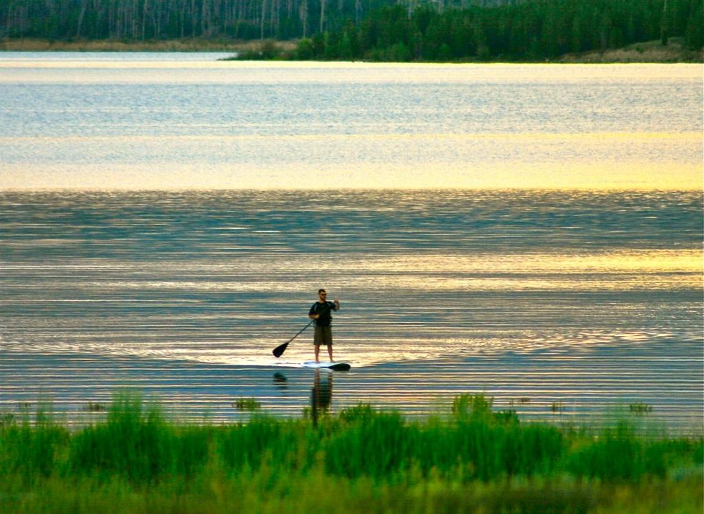 Sunset paddling.