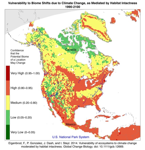 Study Maps Potential For Climatechange Disruption In National - Biome map of us