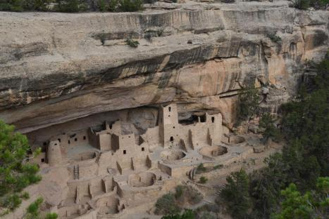 Cliff Palace, the largest dwelling, perched below the rim of Chapin Mesa