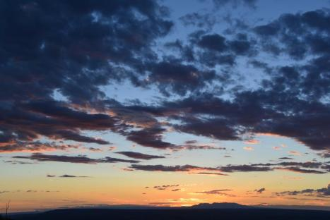 Sunset over Mesa Verde.