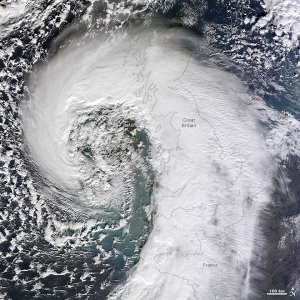 An extratropical cyclone