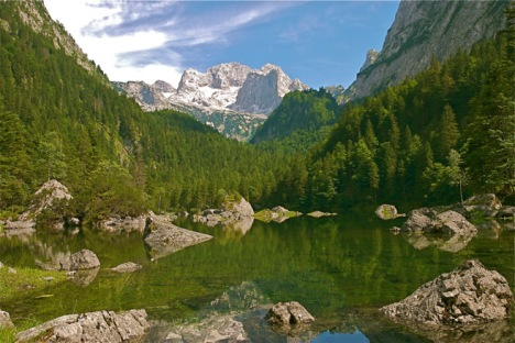 The Dachstein Glacier in Austria has visibly and dramatically decreased in size in just a couple of decades. bberwyn photo.