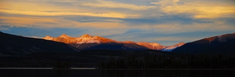 A recent mountain sunset in Frisco, Colorado. Click it to see the full-size version.