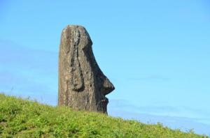The Rapanui are famous for building giant stone platforms and statues. Credit: Photograph by Natalia Solar Usage Restrictions: Credit Required