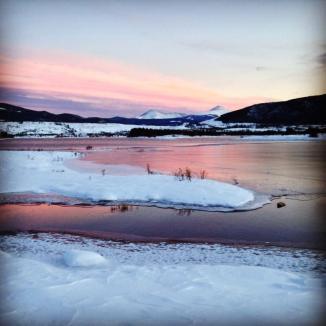 Colorado winter sunset