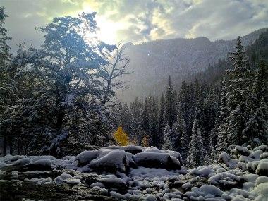First storm along Meadow Creek in Frisco, Colorado.