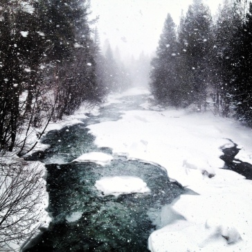 Tenmile Creek on the winter solstice.