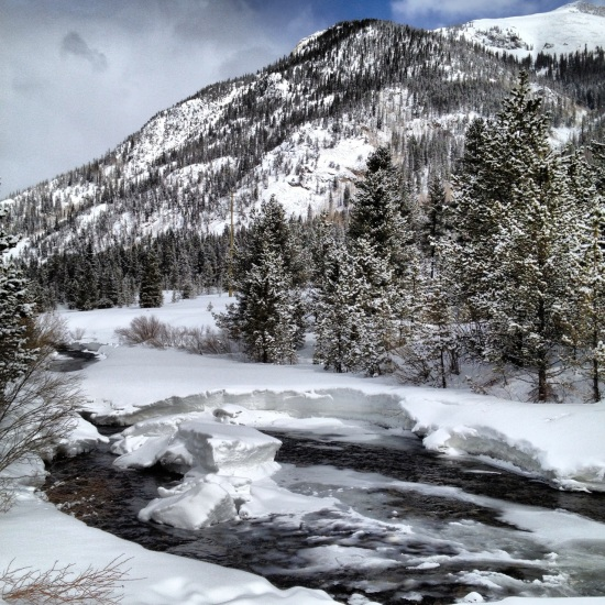 Full-on winter along Tenmile Creek, March, 2014.