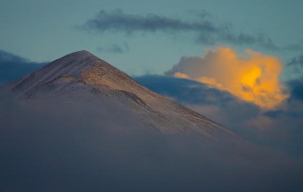Late evening sun on Mt. Guyot.