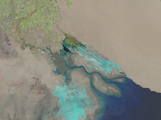 The Colorado River Delta in May, 2014. Photo courtesy NASA.