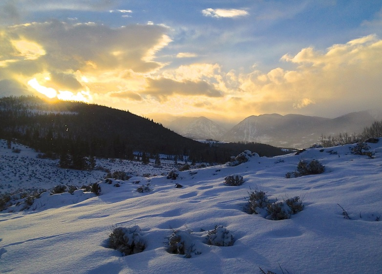 Evening glow over Summit County.