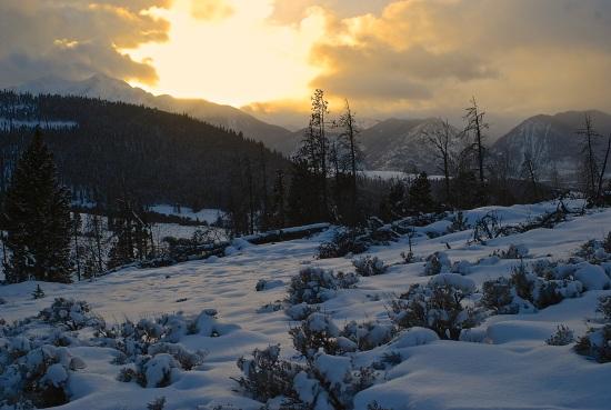 Solstice glow on Swan Mountain.