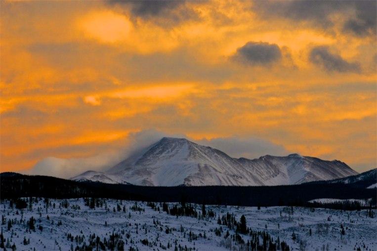 Crazy skies over Summit County, Colorado.