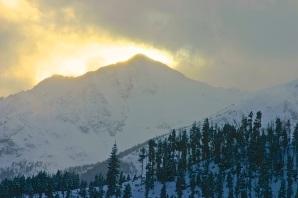 Solstice light over Peak 1, Frisco, Colorado.