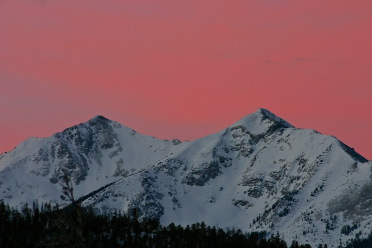 Morning color over the Tenmile Range.