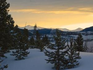Sky aglow over Summit County, Colorado.