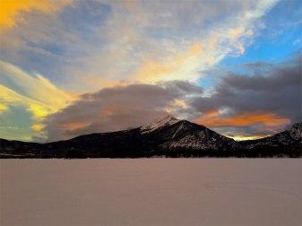 Sunset over Peak 1.
