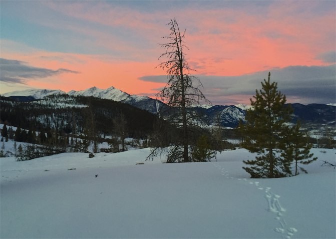 Dawn on Swan Mountain, Summit County, Colorado.