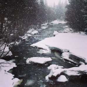 Tenmile Creek near the post office in Frisco, Colorado.