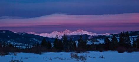 Winter wave clouds over the Continental Divide in Colorado.