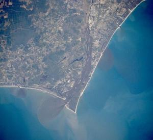 Cape Fear, North Carolina, photographed by a NASA satellite.