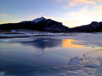 Icy reflection.